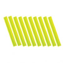 Pack of Ten High Visibility Reflective Slap Bands